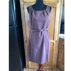 NWT Fashion Bug Brown Belted Shift Dress Sz 16